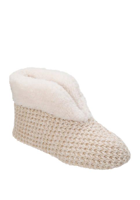 Dearfoams® Textured Knit Booties
