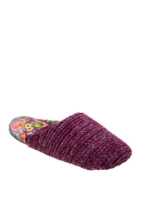 Dearfoams® Chenille Rib Knit Slippers