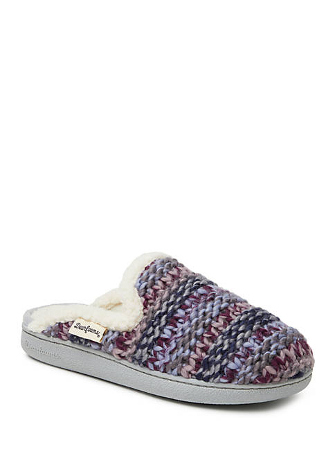 Dearfoams® Chunky Knit Scuff Slippers