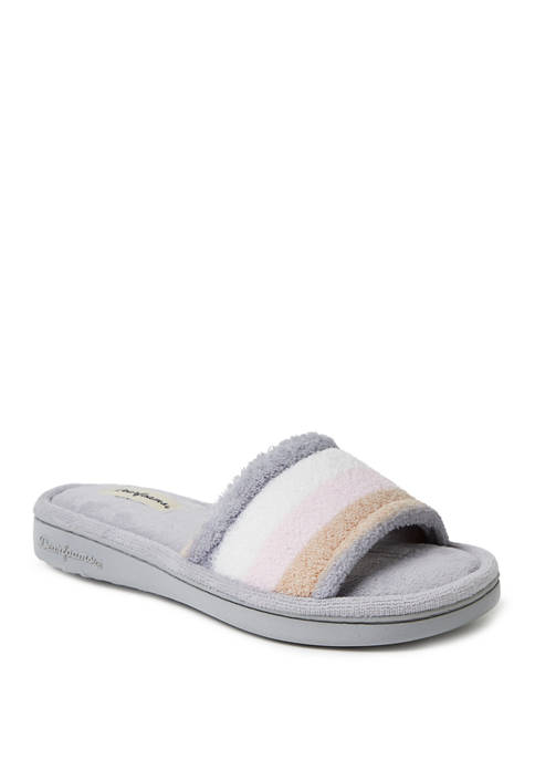 Color Block Microfiber Terry Slippers