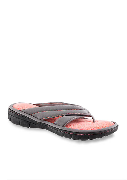97f87d29466 Totes Isotoner Matte Satin Jackie Thong Slippers