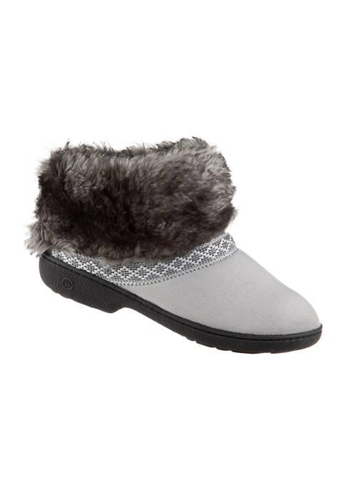 Womens Microsuede Basil Comfort Boot Slipper with Memory Foam