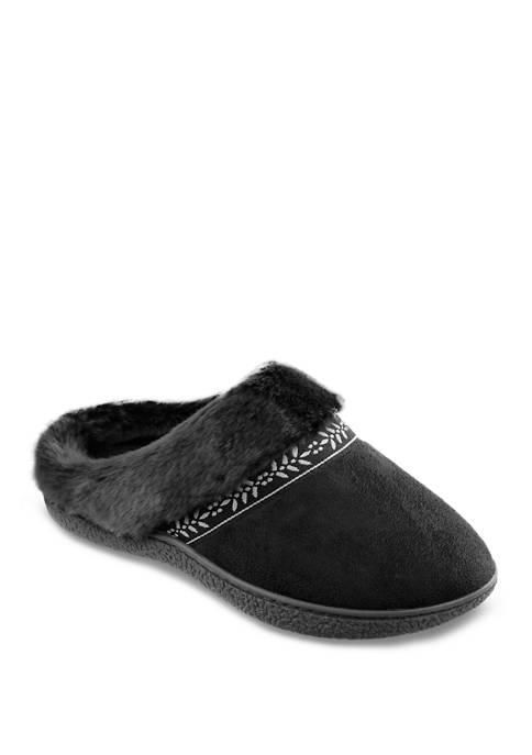 Totes Isotoner Microsuede Addie Hoodback Slippers