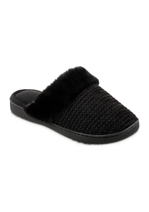 Totes Isotoner Women's Boxed Chenille Comfort Clog Slippers