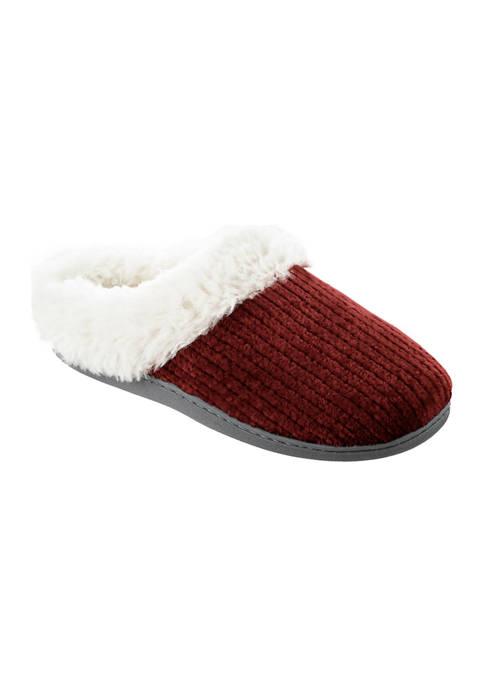 Women's Boxed Chenille Comfort Hooback Slippers