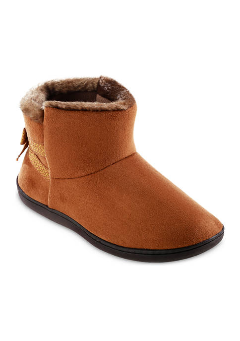 Womens Isotoner Memory Foam Microsuede Nelly Boot Slippers