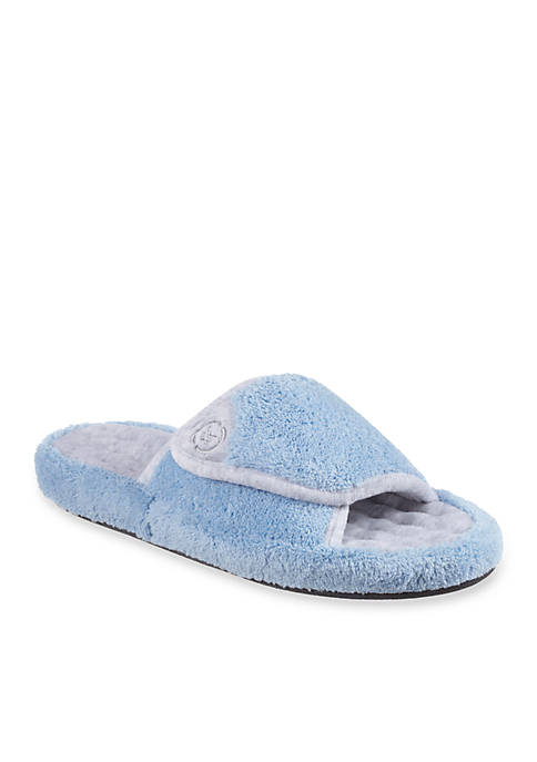 Totes Isotoner Signature Classics Microterry Spa Slide Slipper