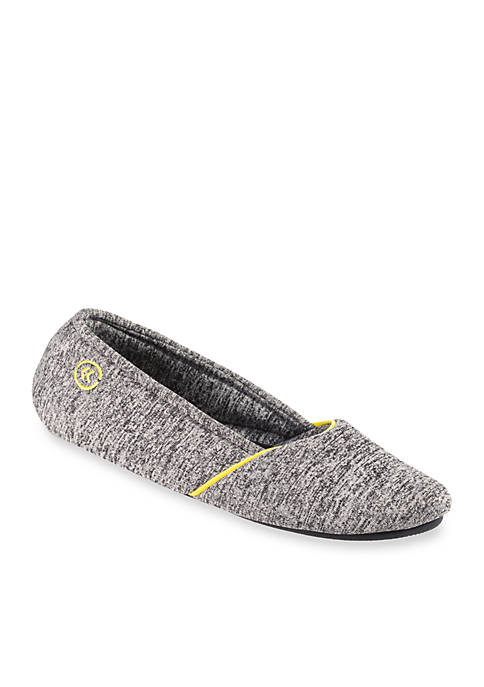 Totes Isotoner Heathered Sport Ballerina Slippers