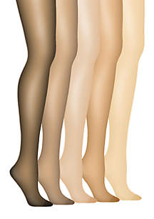 Silk Reflections Plus Control Top Enhanced Toe Pantyhose