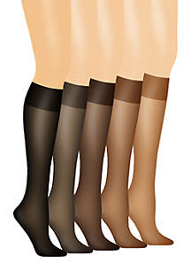 Silk Reflections No Slip Band Knee High Set of 2