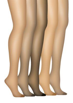 Hanes Womens Silk Reflections Non Control Top Reinforced Toe Pantyhouse