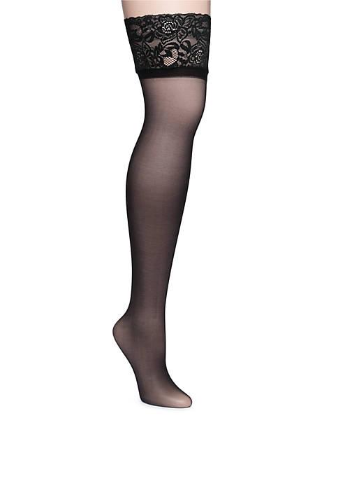 Hanes® Lace Band Thigh High Tights