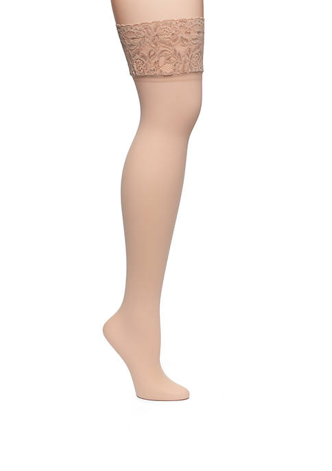 Lace Band Thigh High Tights