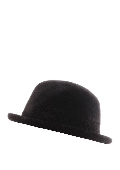 Totes Isotoner Chenille Bowler Molded Hat