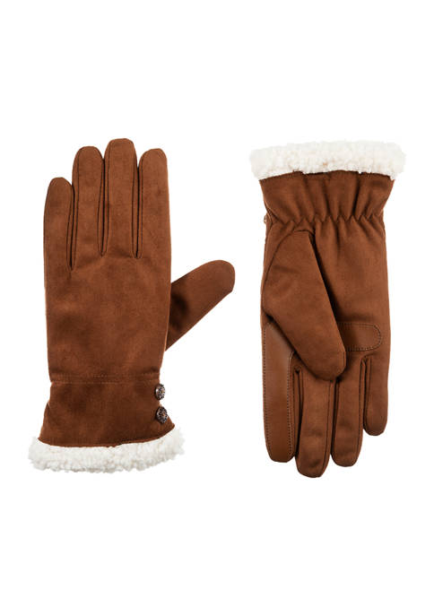 Totes Isotoner Women's Soft Microsuede Gloves with Warm