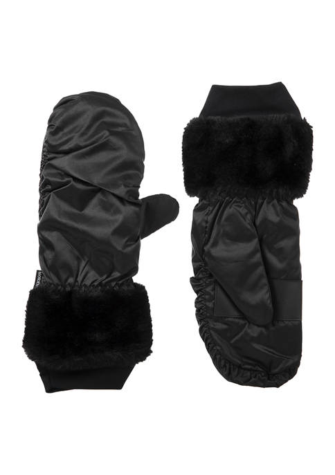 Totes Isotoner Women's SleekHeat® Mittens with Faux Fur