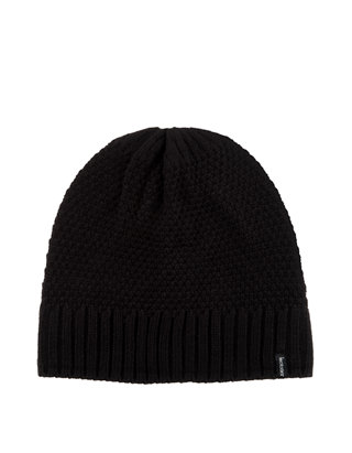NEW ISOTONER WOMENS BLACK CASUAL KNIT HAT