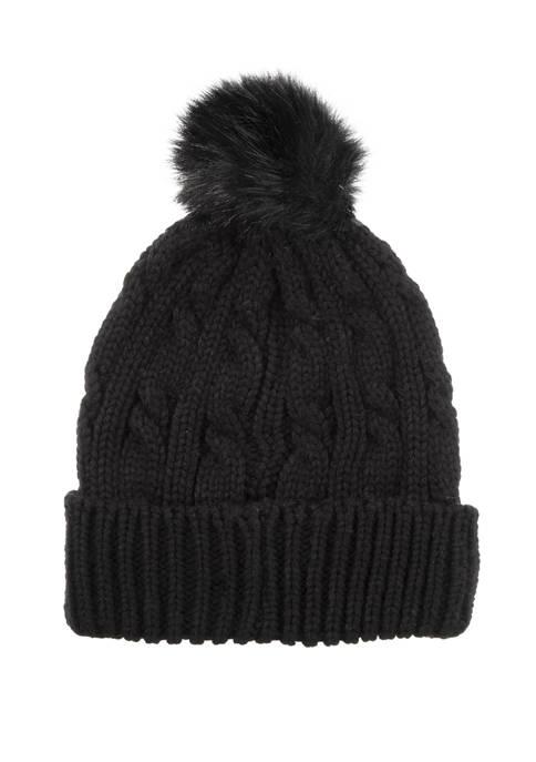 Acorn Double Cable Beanie Hat