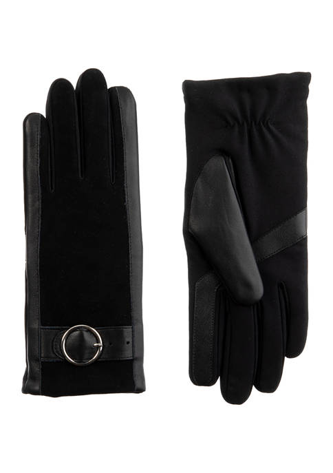 Totes Isotoner Womens Genuine Leather Gloves