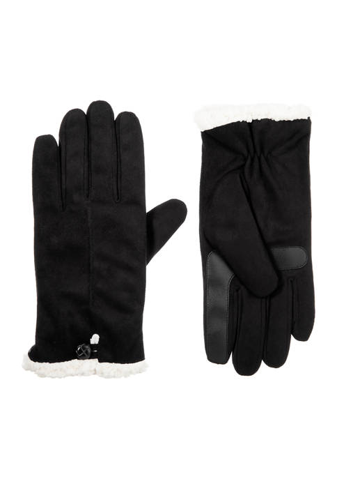 Isotoner Women's Recycled Microsuede Water Repellent Gloves