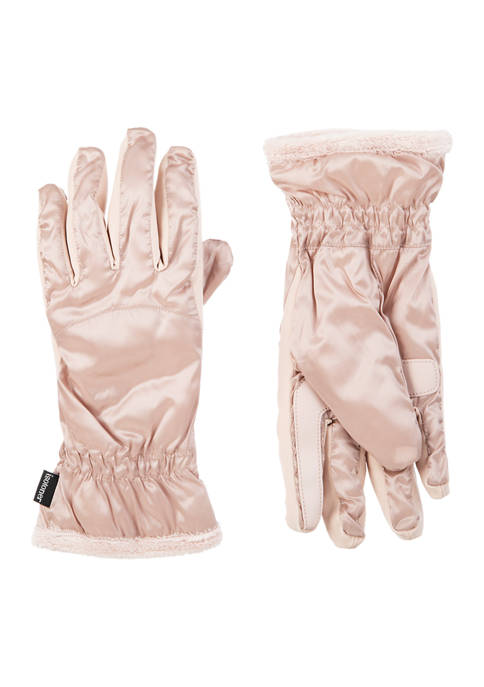 Isotoner Women's Insulated Water Repellent Quilted Gloves