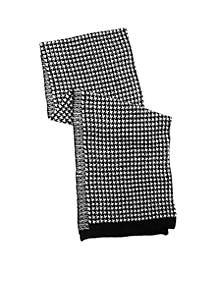 Women's Houndstooth Chenille Scarf