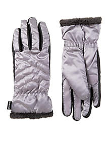 Women\u2019s SleekHeat™ Quilted Chevron Spandex Stretch Touchscreen Gloves