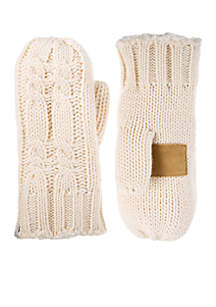 Women\u2019s Chunky Cable Knit Mittens