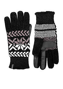 Women\u2019s Chenille Touchscreen Gloves with Snowflake Accents