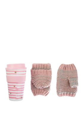 Totes Travel Mug and Flip Top Mittens Set