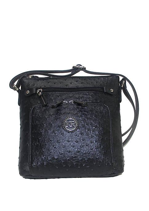 Kim Rogers® Ostrich Crossbody Bag