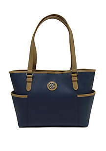 Kim Rogers® Saffiano Tote With Side Pockets