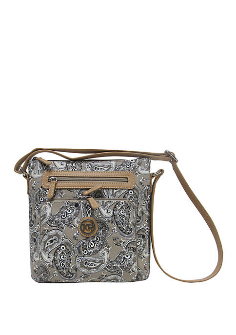 Kim Rogers® Saffiano Paisley Crossbody Bag