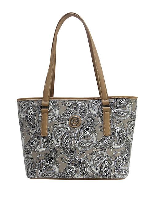 Saffiano Paisley Tote Bag