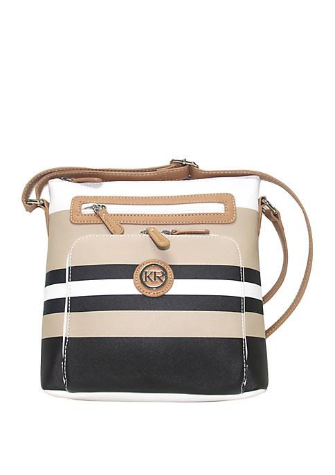Kim Rogers® Saffiano Stripe Crossbody Bag
