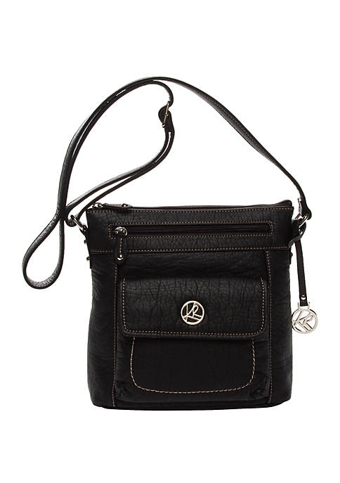 Waxy Pebble Organizer Crossbody