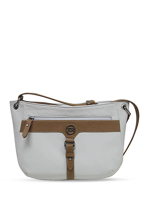 Kim Rogers® Buckle Crossbody Hobo Bag