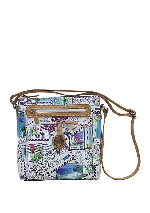 Kim Rogers® Saffiano Postcard Crossbody Bag