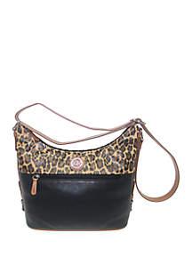Kim Rogers® Leopard Color Block Crobo Hob Bag