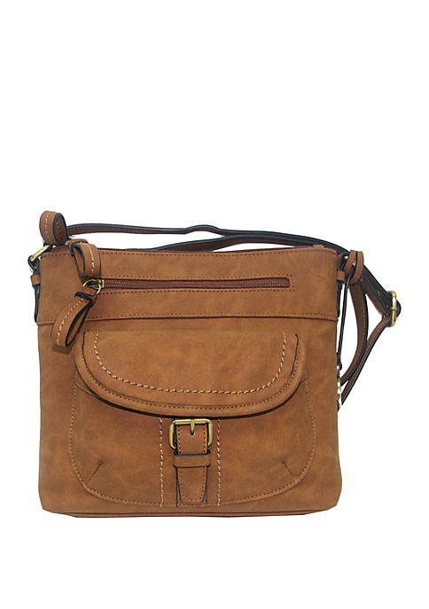 Kim Rogers® Saddle Suede Crossbody Bag