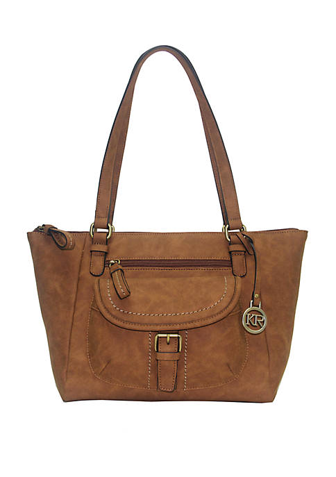 Kim Rogers® Saddle Suede Tote Bag