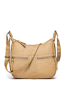 Bueno Washed Woven Insets Crossbody
