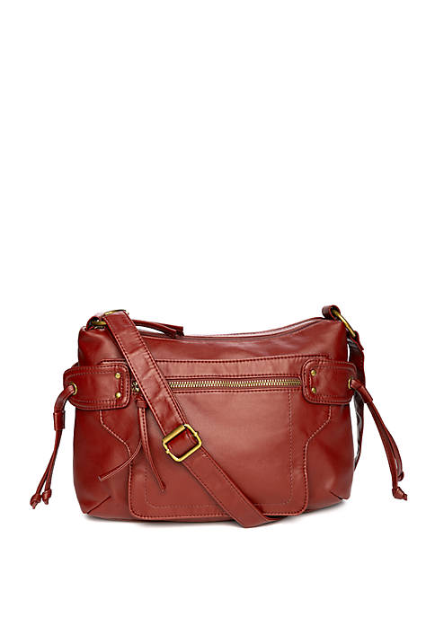 Bueno Double Zipper Crossbody Bag