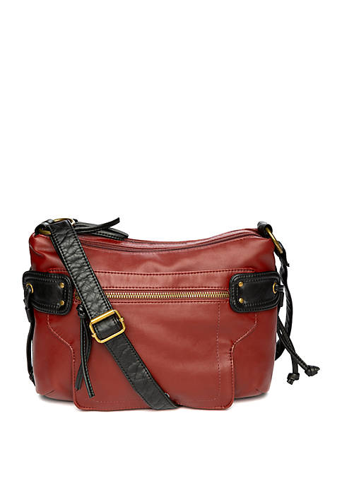 Bueno Double Top Zip Crossbody Bag