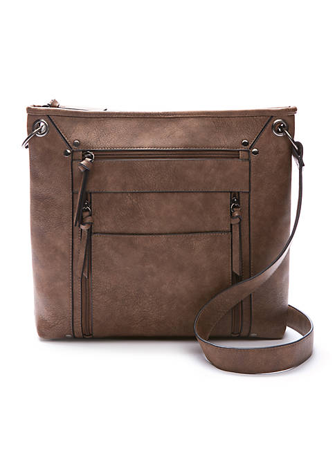 Bueno Shaded Grain Multi Pocket Crossbody