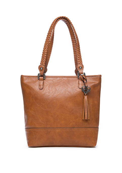 Braided Double Handle Tote