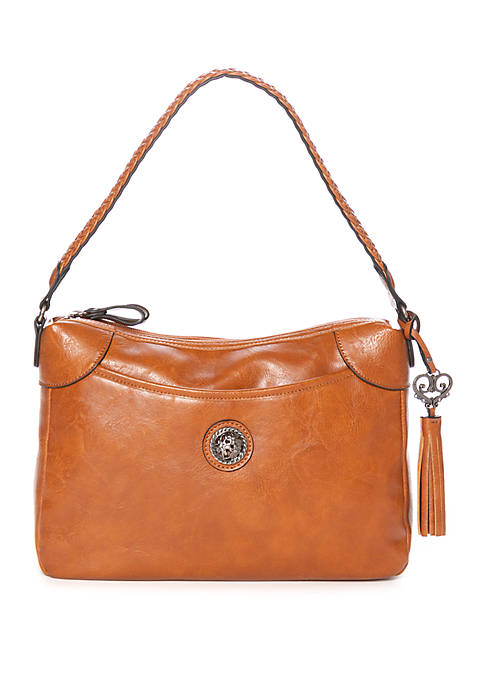 Bueno Hobo Bag with Braided Shoulder Strap