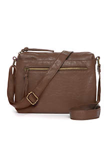 Waxy Grain Washed Multi-Zip Crossbody