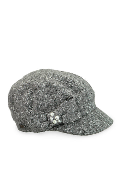 Betmar Hats Lucerne Lurex Cap With Bow and