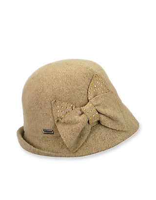 74c6b6a29e68a Betmar Hats Betty Wool Cloche Hat With Rhinestone Bow